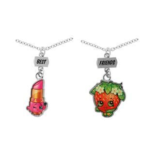 Shopkins Chidren's Best Friends Lippy Lips & Strawberry Kiss Necklace Set|https://ak1.ostkcdn.com/images/products/12362561/P19189025.jpg?impolicy=medium