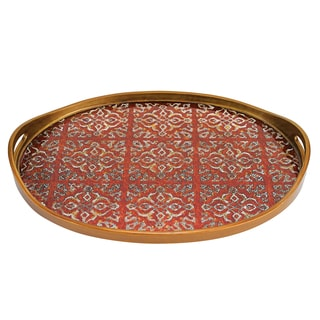 Badash Dafne Red Oval Tray 18-inches x 12-inches