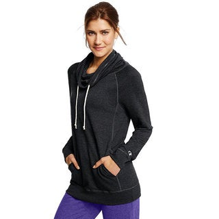Champion Women's French Terry Funnel Neck Top