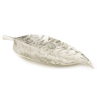 Heim Concept Nickel Plated Aluminum Long Leaf Platter