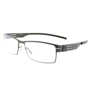 Ic Berlin Peter C. Graphite Black Metal 53-millimeter Rectangle Eyeglasses