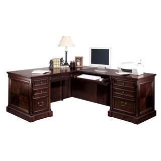 Montreal Brown Wood Right L-shaped Desk