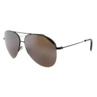 Victoria Beckham VBS 90 C39 Classic Victoria Brown Metal Aviator Galaxy Mirror Zeiss Lens Sunglasses