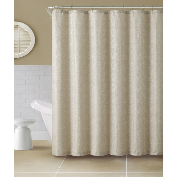 VCNY Kenneth Jacquard Shower Curtain