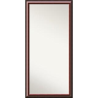 Wall Mirror Choose Your Custom Size - Oversized, Cambridge Mahogany Wood