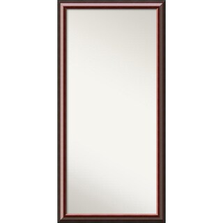 Wall Mirror Choose Your Custom Size-Oversized, Cambridge Mahogany Wood