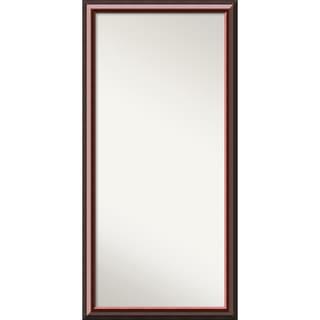 Wall Mirror Choose Your Custom Size-Oversized, Cambridge Mahogany Wood - Black