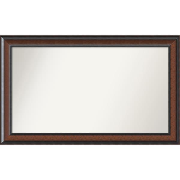 Wall Mirror Choose Your Custom Size - Large, Cyprus Walnut Wood