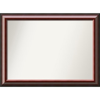 Wall Mirror Choose Your Custom Size - Medium, Cambridge Mahogany Wood