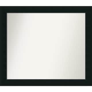 Wall Mirror Choose Your Custom Size - Large, Corvino Black Wood