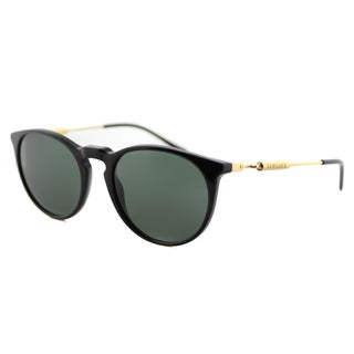 Versace VE 4315 GB0.141 Black Plastic Round Green Lens Sunglasses