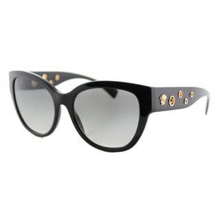 Versace VE 4314 GB1/11 Black Plastic Cat-Eye Grey Gradient Lens Sunglasses