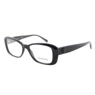 Versace VE 3228 GB1 Black Plastic 52-millimeter Cat-eye Eyeglasses