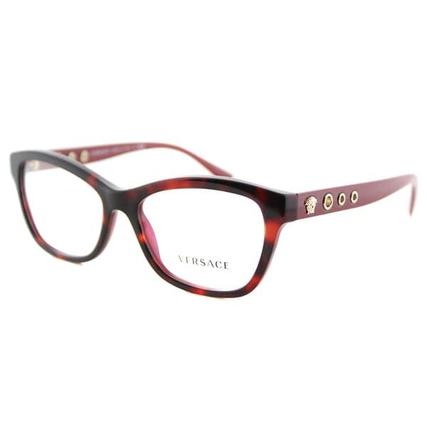 ecc349a6021 Shop Versace Bordeaux Plastic Havana Cat-eye Frames - Free Shipping ...