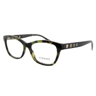 Versace VE 3225 5183 Avana Military Plastic 54-millimeter Cat-eye Eyeglasses