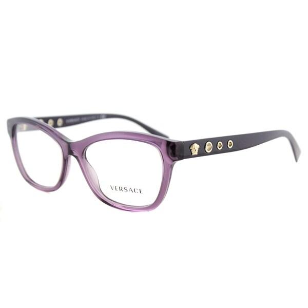 92da8a17a0a Shop Versace VE 3225 5029 Women s Purple Plastic Cat-eye Eyeglasses ...