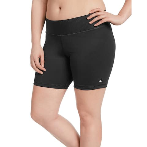 Champion Women's Plus Black Polyester and Spandex Absolute Shorts