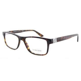 Versace VE 3211 108 Dark Havana Plastic 53-millimeter Rectangle Eyeglasses