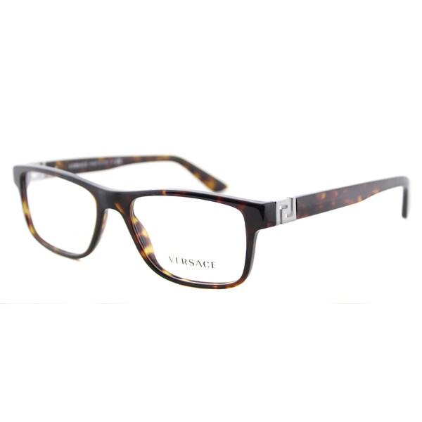 f7bdb06f97 Versace VE 3211 108 Dark Havana Plastic 53-millimeter Rectangle Eyeglasses