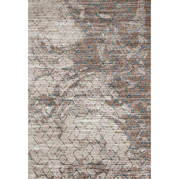"Beverly Collection Beige/Gold Polypropylene Vintage-style Area Rug - 7'10"" x 10'6"""