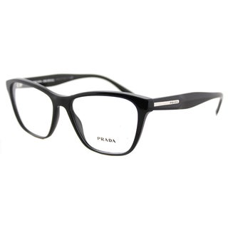 Prada PR 04TV 1AB1O1 Black Plastic 54-millimeter Square Eyeglasses