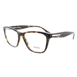 Prada PR 04TV 2AU1O1 Havana Plastic 54-millimeter Square Eyeglasses