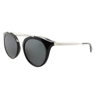Prada PR 23SS 1AB1A1 Cinema Black Plastic Round Grey Lens Sunglasses