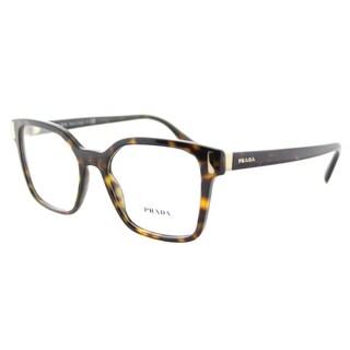 Prada PR 05TV 2AU1O1 Havana Plastic 52-millimeter Square Eyeglasses
