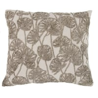 100-percent Cotton 18-inch x 20-inch Embroidered Throw Pillow