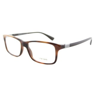 Prada PR 06SV U6J1O1 Unisex Brown Plastic Rectangular Eyeglasses