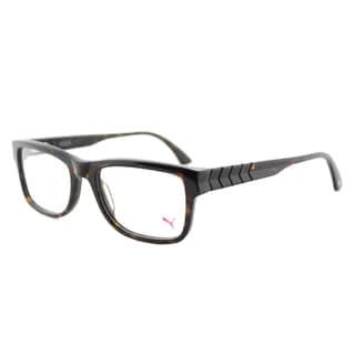 Puma Havana Plastic Rectangle 53mm Eyeglasses