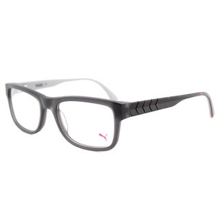Puma PU 0047O 004 Matte Grey Plastic 53-millimeter Rectangle Eyeglasses