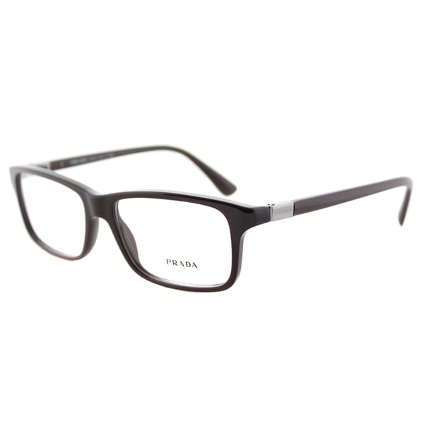 76ebfb067b0 Prada PR 06SV USF1O1 Brown Plastic 56-millimeter Rectangle Eyeglasses
