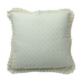 Waverly Fleuretta Green Square 20-inch Cotton Decorative Accessory Throw Pillow