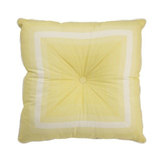Waverly Paisley Verveine Yellow Tufted Decorative Accessory Throw Pillow