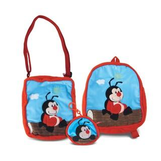 Puzzled Ladybug Collection Coin Bag, Shoulder Bag, and Backpack Set of 3