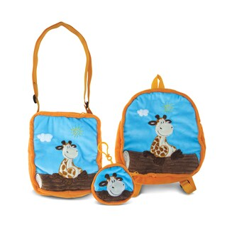 Puzzled Giraffe Collection Coin Bag, Shoulder Bag and Backpack