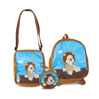 Puzzled Lion Collection - Coin Bag, Shoulder Bag and Backpack