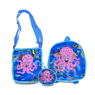Puzzled Octopus Collection - Coin Bag, Shoulder Bag, and Backpack