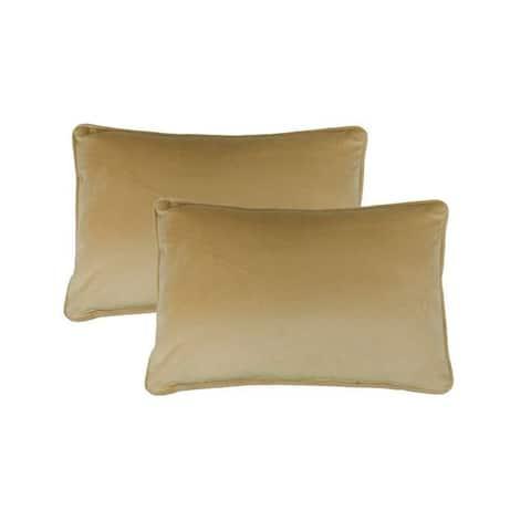 Sherry Kline Richmond Velvet Boudoir Throw Pillow (set of 2)