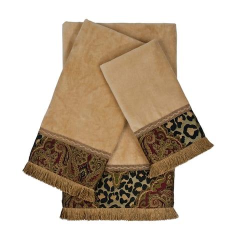 Sherry Kline Tangiers Nugget 3-piece Decorative Embellished Towel Set