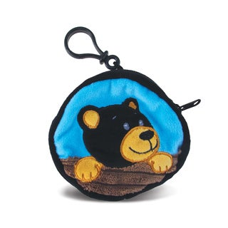 Puzzled Kids' 4-inch Black Bear Coin Bag