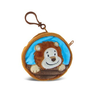 Puzzled Lion 4-inch Coin Bag