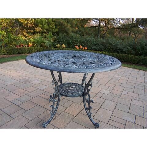 Dakota Cast Aluminum 42-inch Round Dining Table