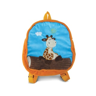 Puzzled 11-inch Giraffe Backpack