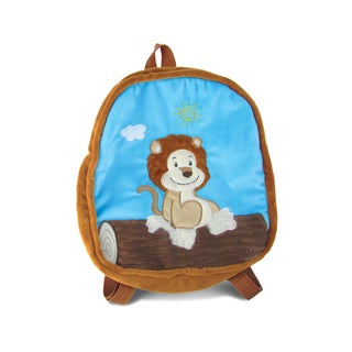 Puzzled 11 Children's Multicolored Fabric Lion Backpack