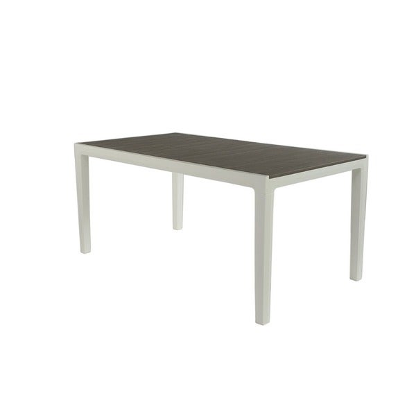 Shop Keter Harmony Contemporary Cappuccino Resin Rectangular Outdoor - White rectangular outdoor dining table