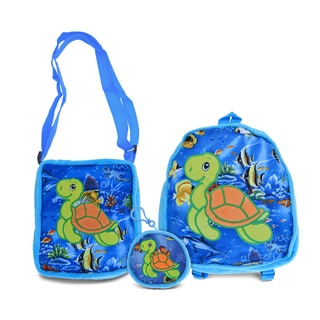 Puzzled Turtle Collection Coin Bag, Shoulder Bag, and Backpack Set of 3