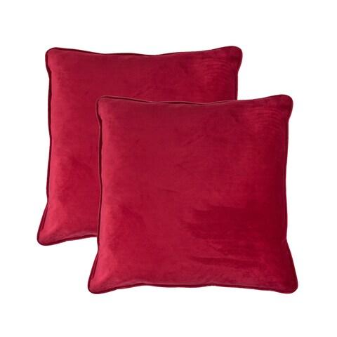 Sherry Kline Richmond Velvet 20-inch Throw Pillow (set of 2)