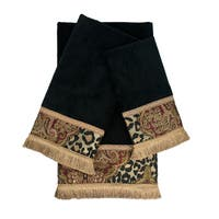 Sherry Kline Tangiers Black 3-piece Decorative Embellished Towel Set